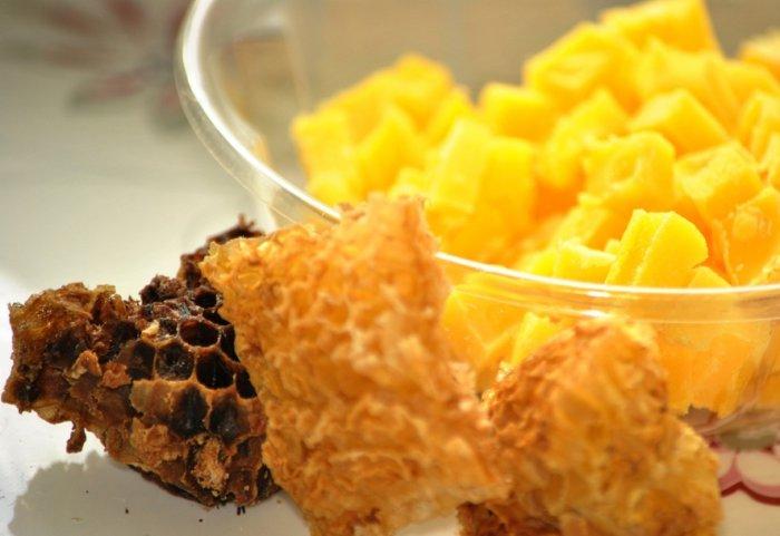 Пчелиные соты с медом и воск