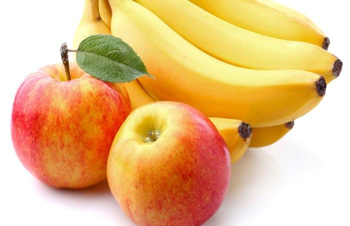 Бананы и яблока