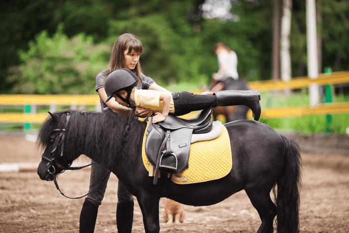 Посадка на лошадь
