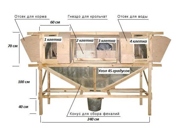 Конструкция крольчатника