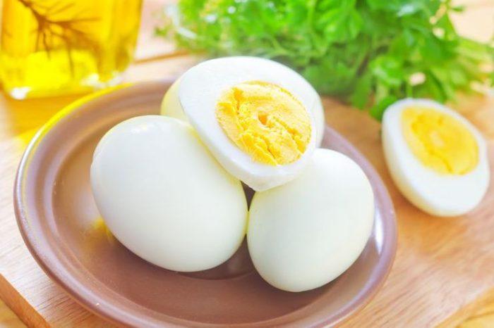 Сваренное вкрутую яйцо