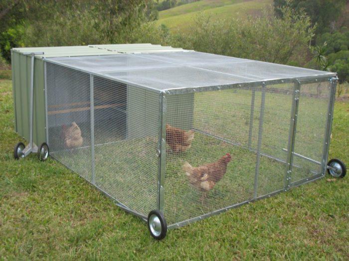 Прогулочный вольер для цыплят