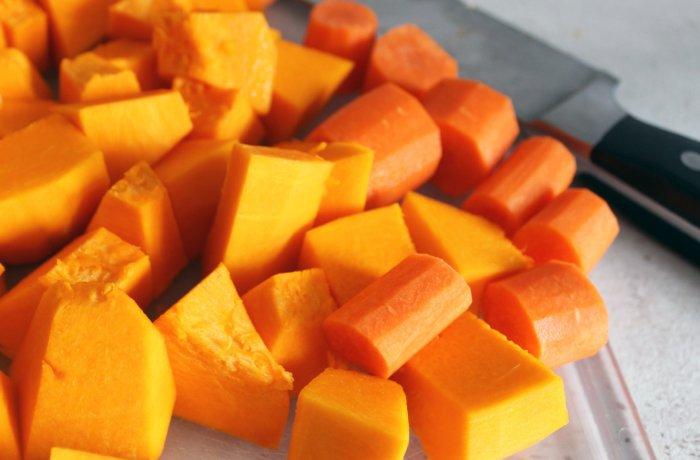 Витамин А содержится в моркови и тыкве