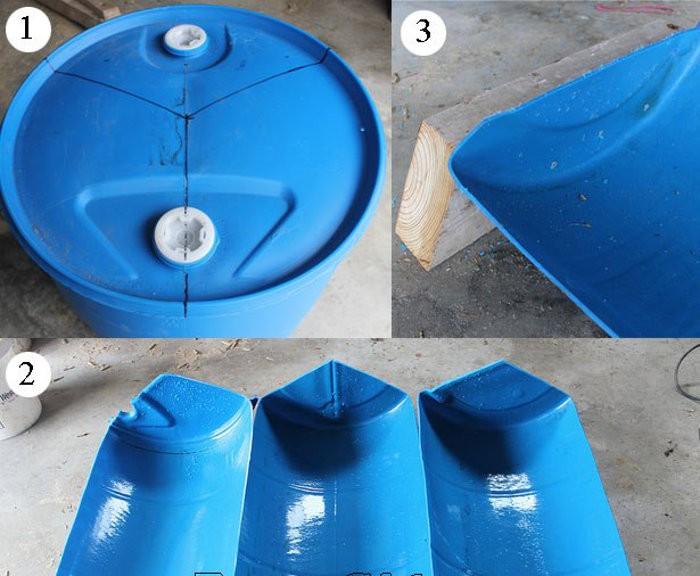 Изготовление кормушки из пластиковой бочки