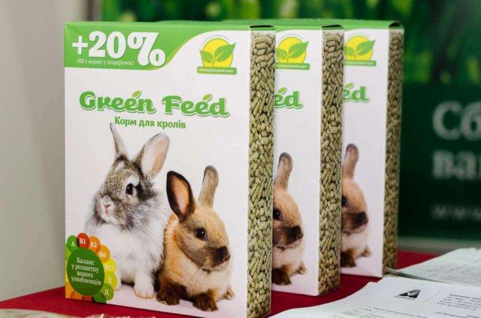Упаковки корма для кролика