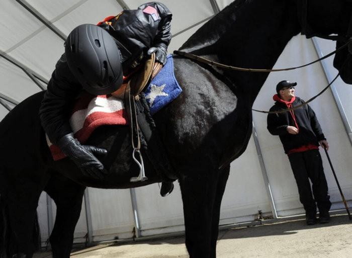 Правильный спуск после остановки лошади